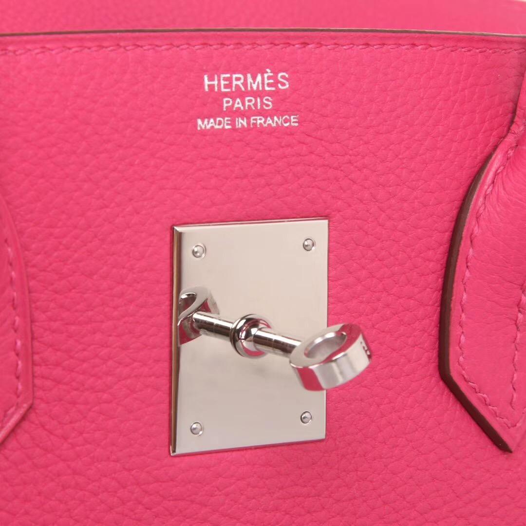 Hermes爱马仕 Birkin 30cm 银扣 L3玫瑰紫 TOGO 神级手工 现货
