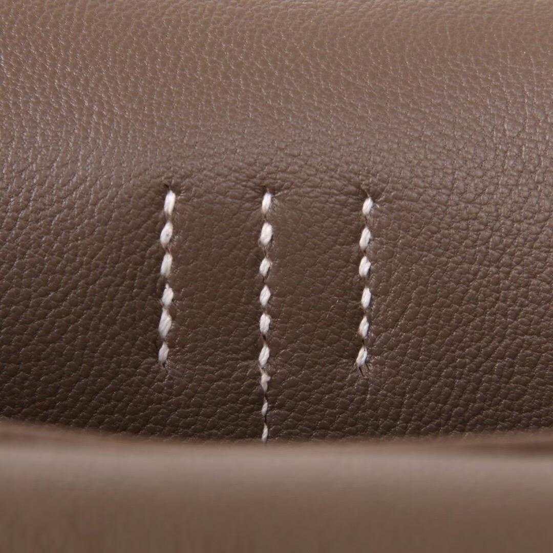 Hermès(爱马仕) Halzan 30CM CK18大象灰  togo 神级手工