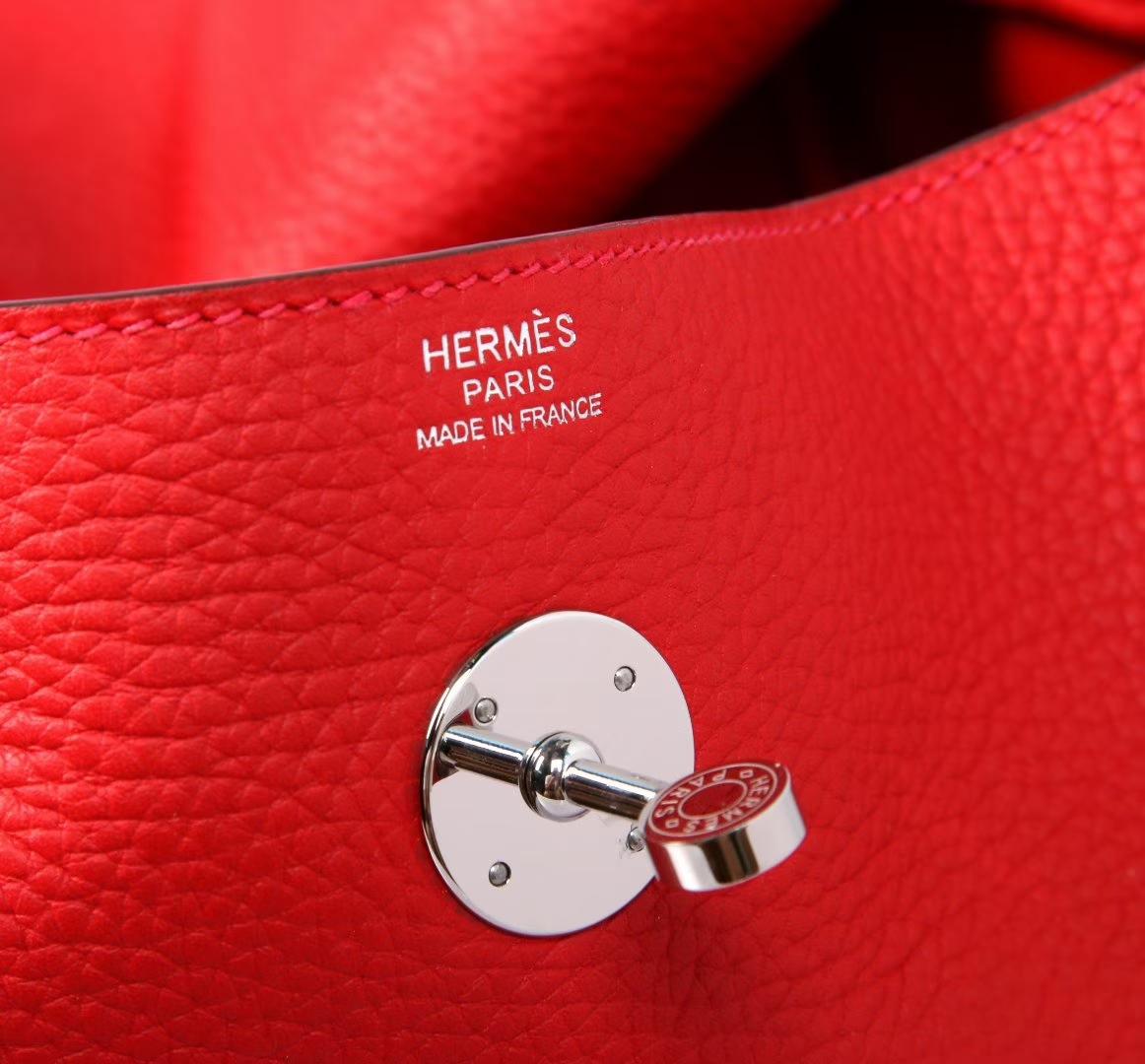 Hermes 爱马仕 Lindy 30银 Q5中国红 TOGO 手工 现货 本命年特别推荐