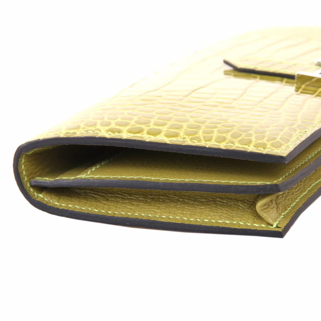 Hermes Bearn H扣钱夹 6H维罗纳绿 鳄鱼 现货