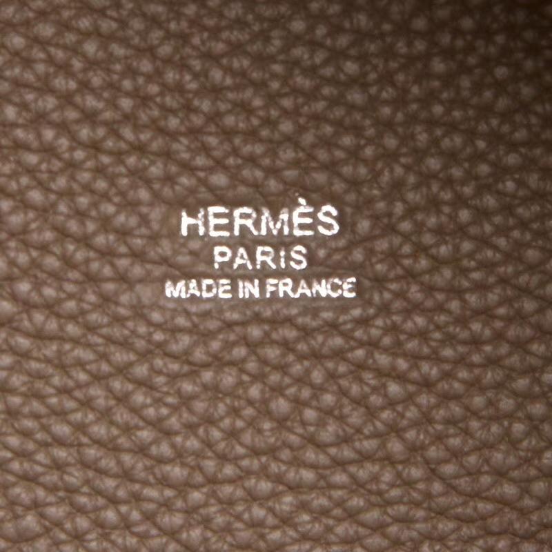 Hermes爱马仕 菜篮子包包 大象灰 经典色