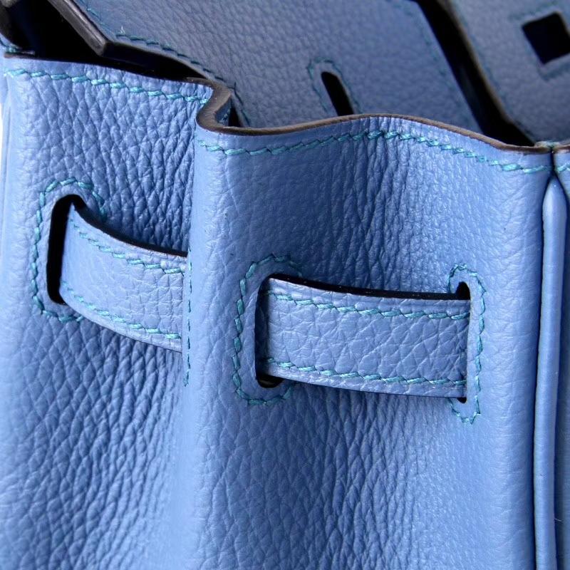 Hermès(爱马仕)Birkin25CM 银扣 R2玛瑙蓝 togo 手工 神级  现货