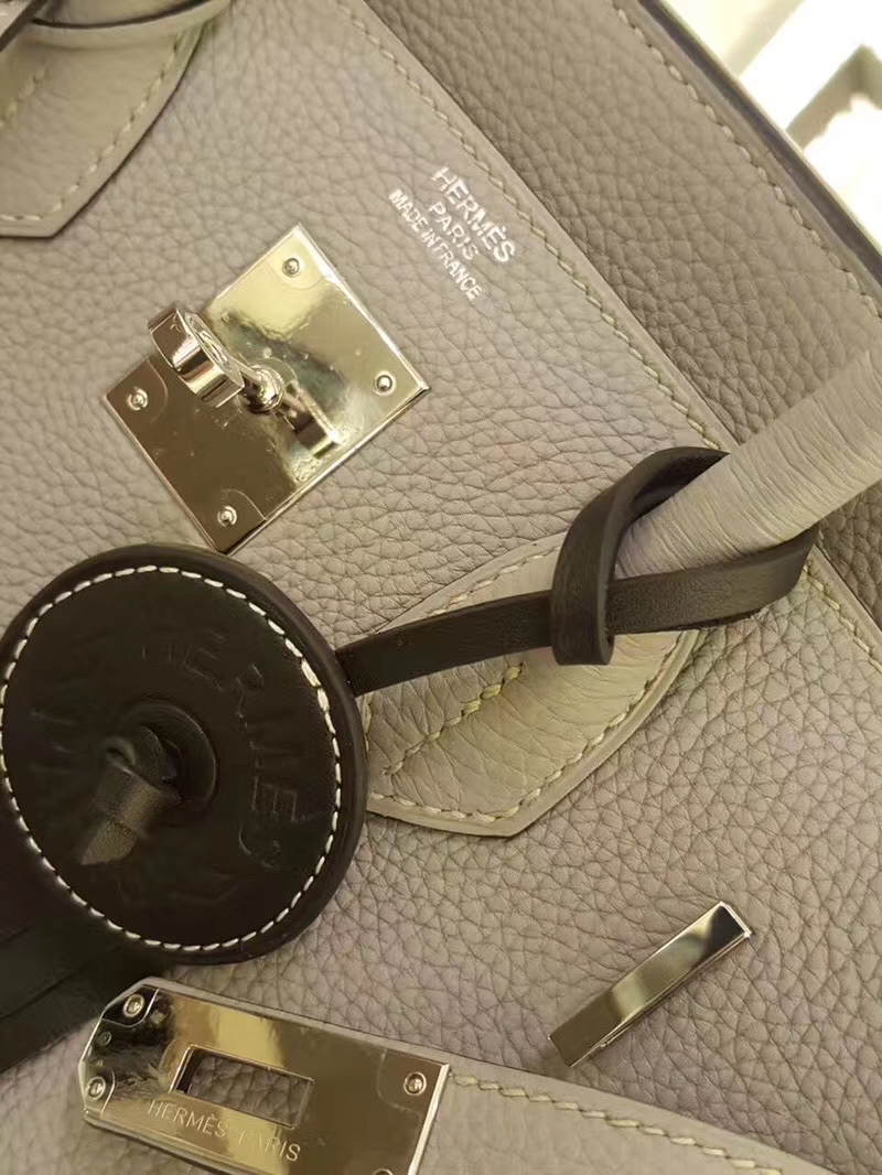 Hermès(爱马仕)Birkin 30CM 金扣 钻石灰 Togo 手工 神级 现货