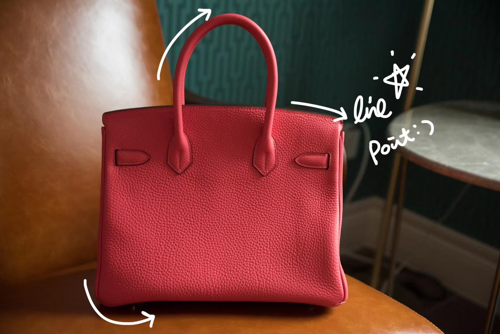 Hermès(爱马仕)Birkin 金扣 唇膏粉 Togo 手工 神级 现货