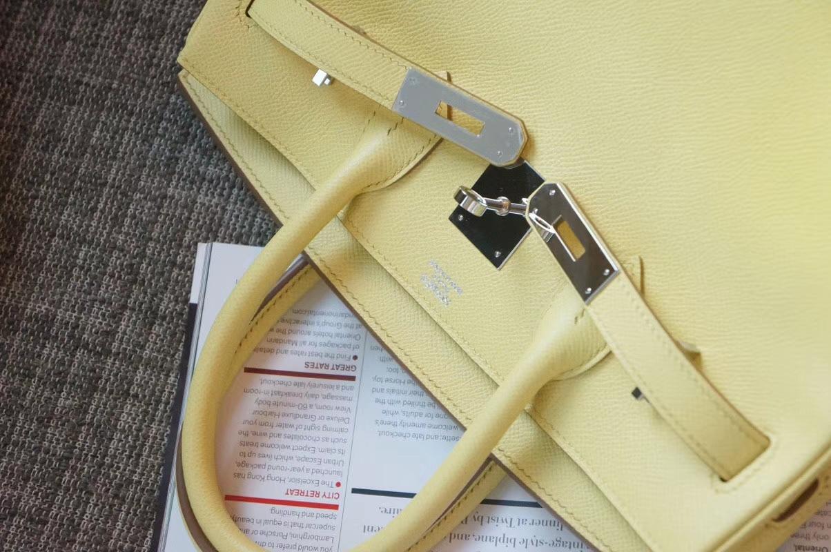 Hermès(爱马仕)Birkin 银扣 鹅黄色 Togo 手工 神级 现货