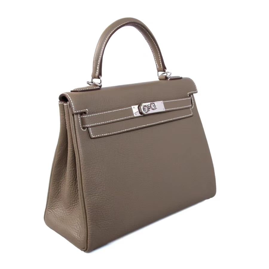 Hermès(爱马仕)Kelly 28CM 大象灰  银扣 CK18 Togo 内缝 手工 神级