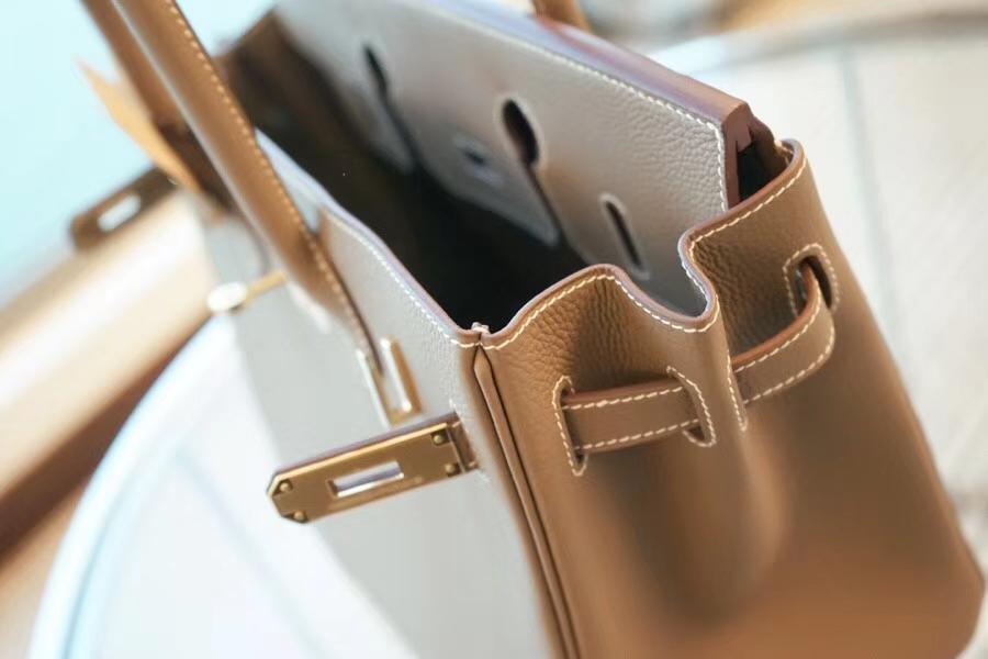 Hermès(爱马仕)Birkin 25CM 金扣 大象灰  TOGO 手工 神级