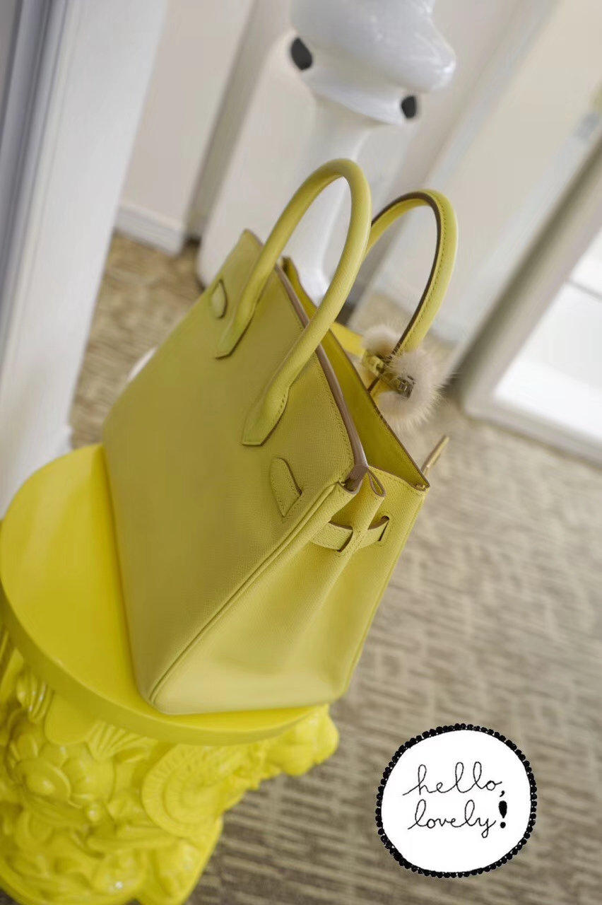 Hermès(爱马仕)BK 30金 鹅黄色  Epsom 清凉夏日