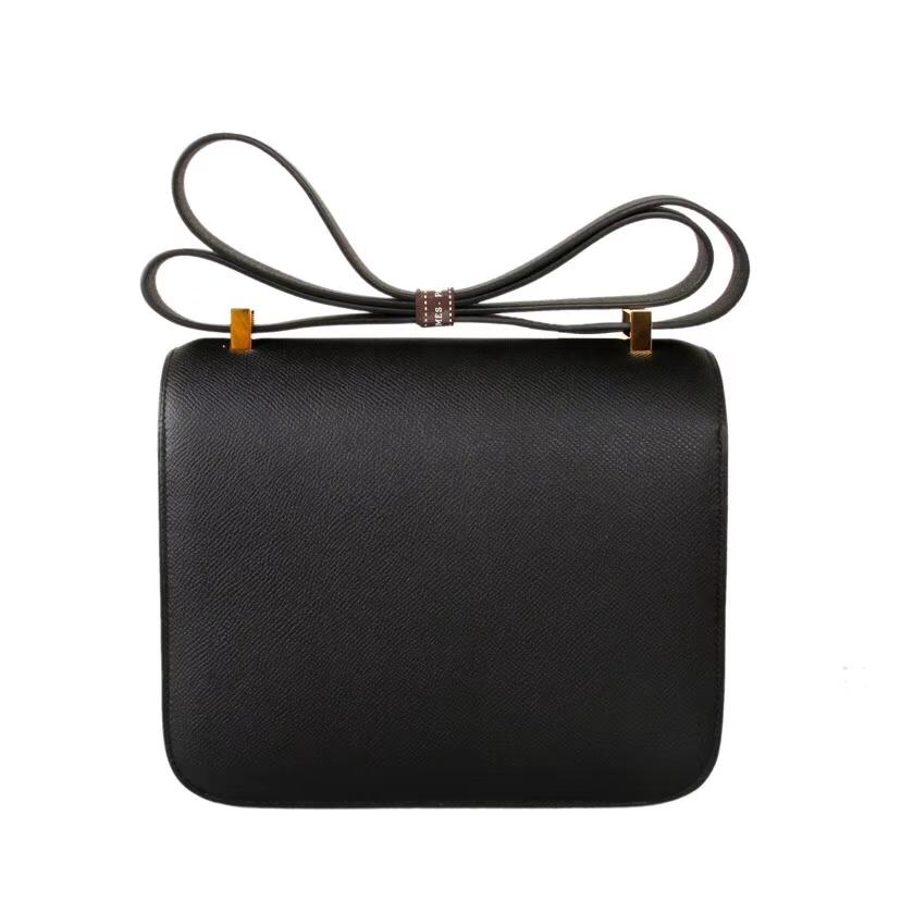 Hermès(爱马仕)Constance 19cm 金扣 CK89黑色 Epsom  手工 神级
