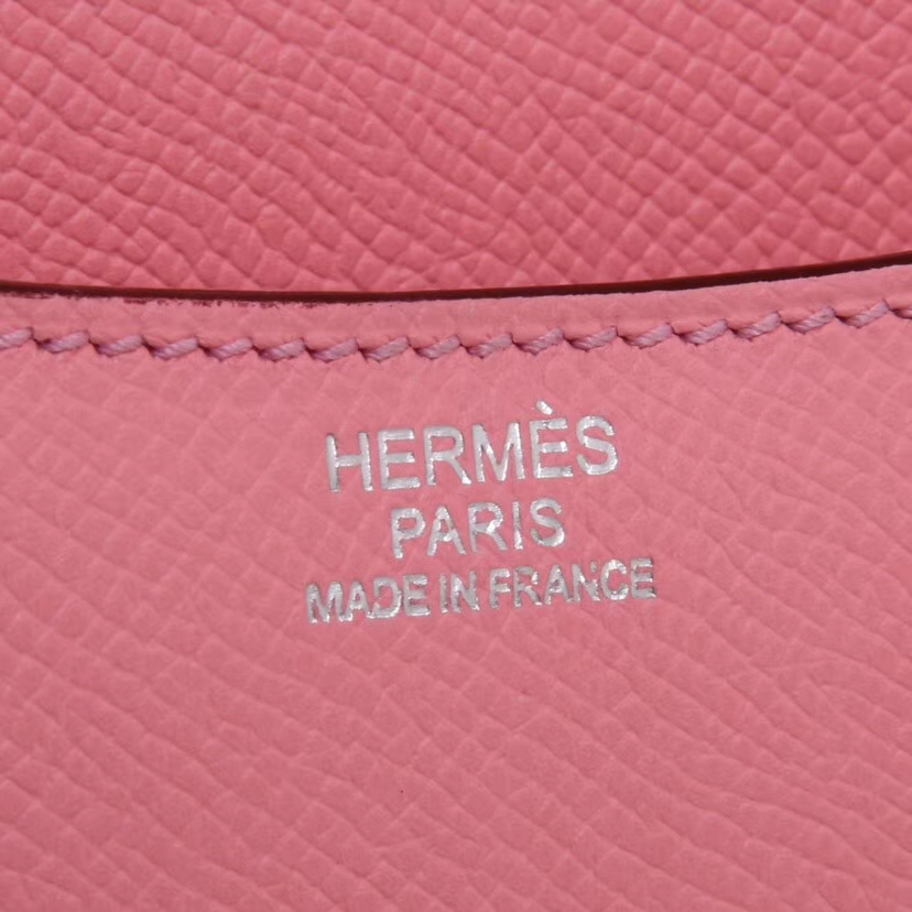 Hermès(爱马仕)Constance 19cm 银扣  奶昔粉  Epsom  手工 神级