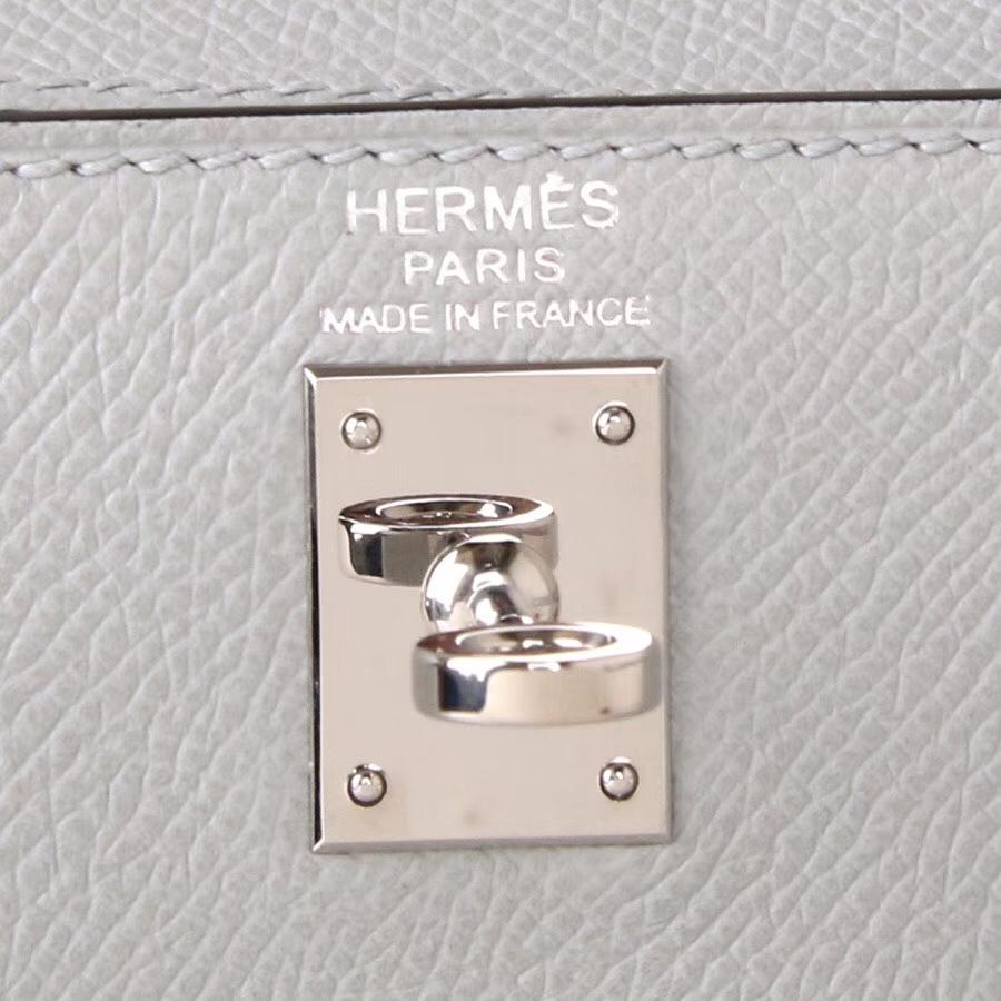 Hermes爱马仕 KL28  银扣  大理石灰  Epsom 现货
