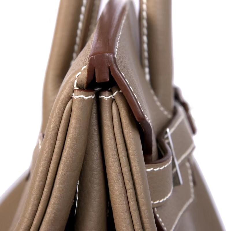 Hermès(爱马仕)Birkin 30cm 银扣 大象灰  Togo  手工 神级