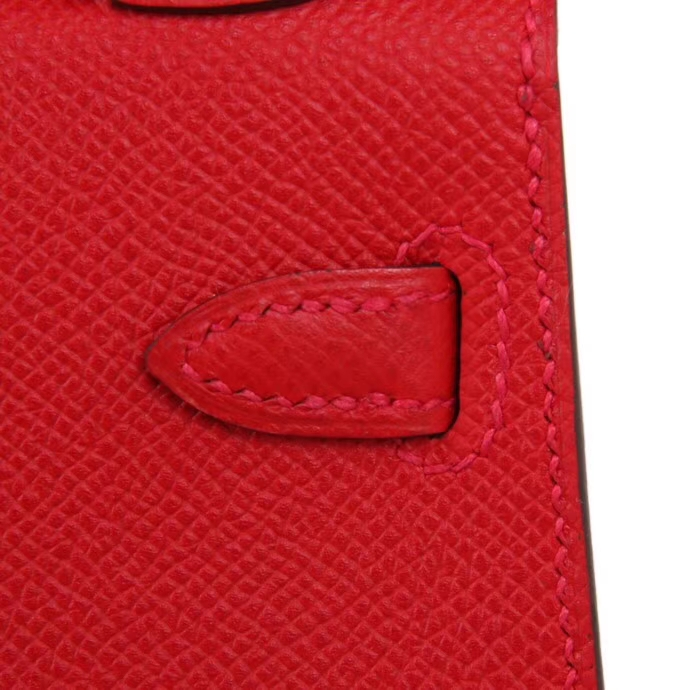 Hermès(爱马仕)Minikelly 二代 Q5中国红  金扣 Epsom皮
