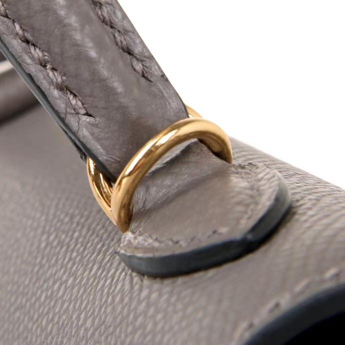 Hermès(爱马仕)Minikelly 二代  锡器灰  金扣 Epsom皮