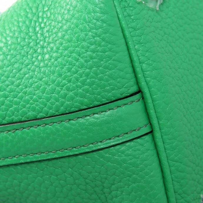 Hermès(爱马仕)Picotin菜篮22 竹子绿 Togo 手工神级
