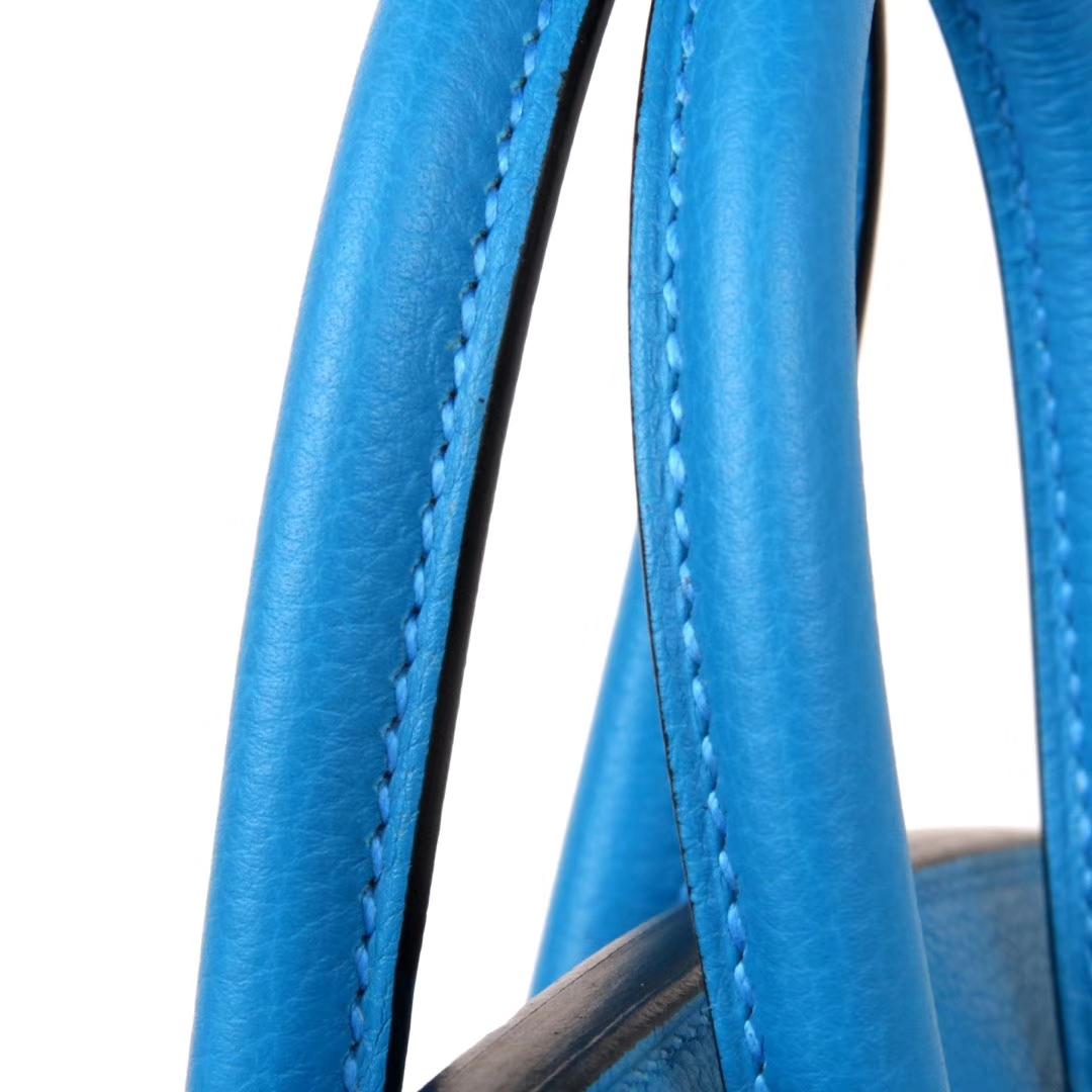Hermès(爱马仕)Birkin 30银  坦桑尼亚蓝  Togo