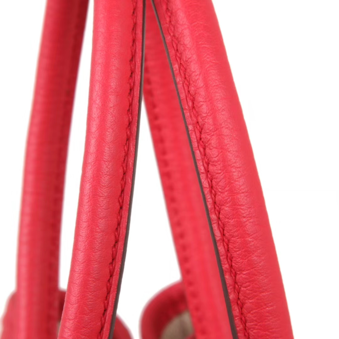 Hermès(爱马仕)Garden Party花园包 红色 原厂Togo荔枝纹牛皮手提女包30CM