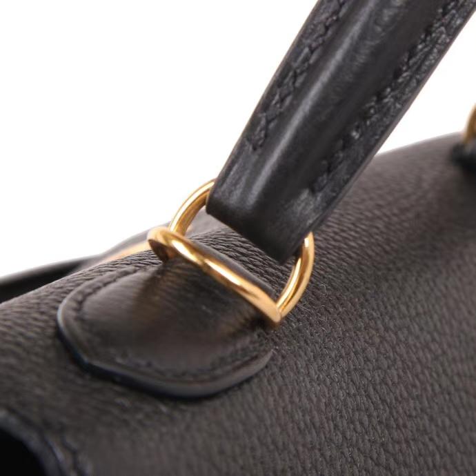 Hermès(爱马仕)Kelly 28CM 金扣 黑色 Togo 手工神级