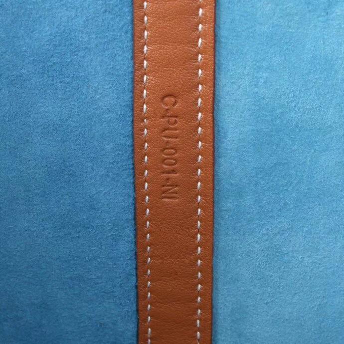 Hermès(爱马仕)2018新款 Picotin菜篮子包包 蓝色拼浅咖啡 麂皮 18cm