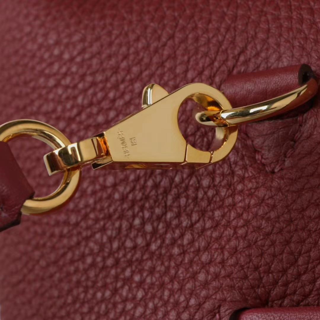 Hermès(爱马仕)2018年新款 kelly2424 爱马仕红 金扣 有肩带 29cm