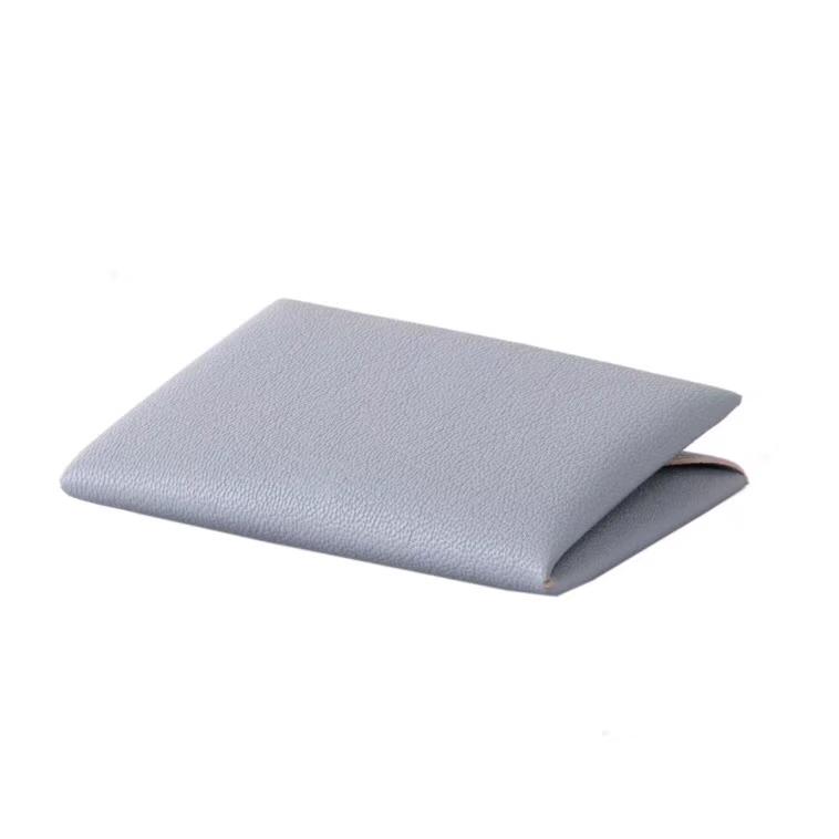 Hermès(爱马仕)信封卡包 CK81斑鸠灰 山羊皮
