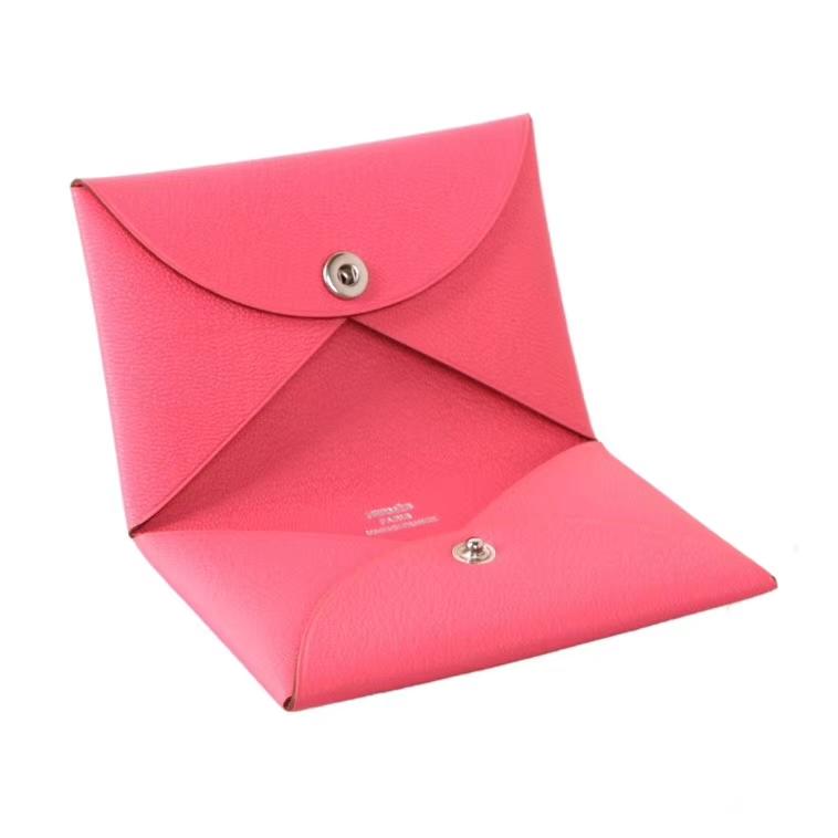 Hermès(爱马仕)信封卡包 U5唇膏粉 山羊皮