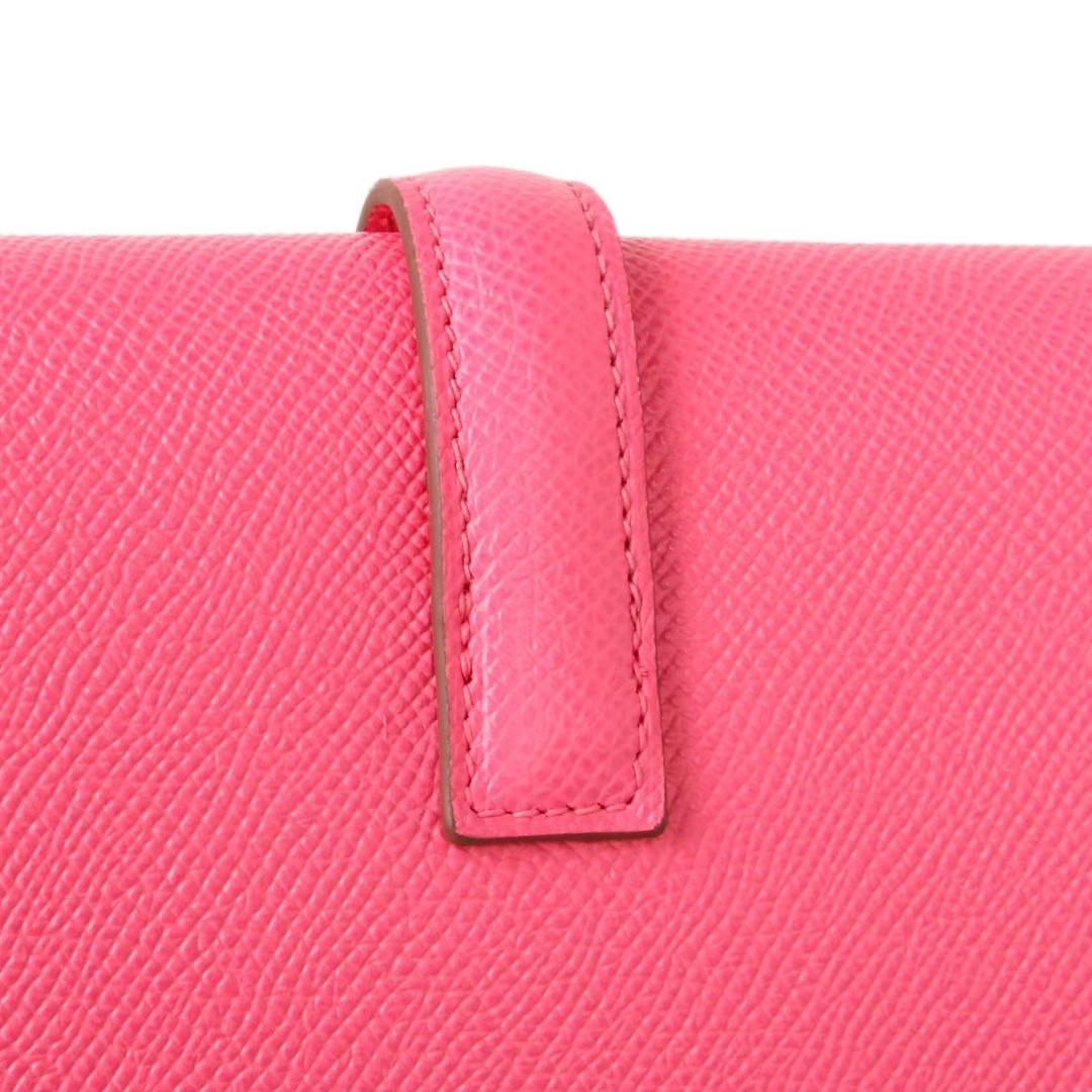 Hermès(爱马仕)长款钱包 西瓜红  EPSOM皮 21.5×12cm