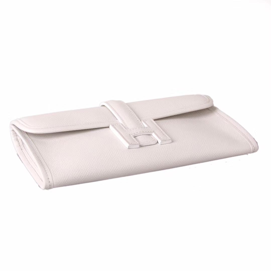 Hermès(爱马仕)长款钱包 米白色  EPSOM皮 21.5×12cm