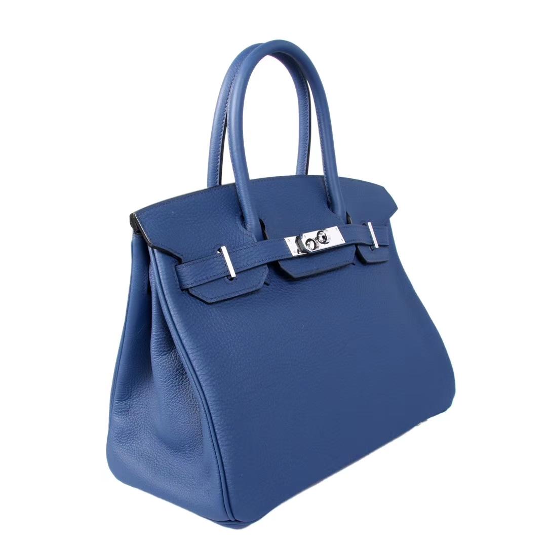 Hermès(爱马仕)Birkin 宝蓝色 金扣 原厂御用swift皮 30cm