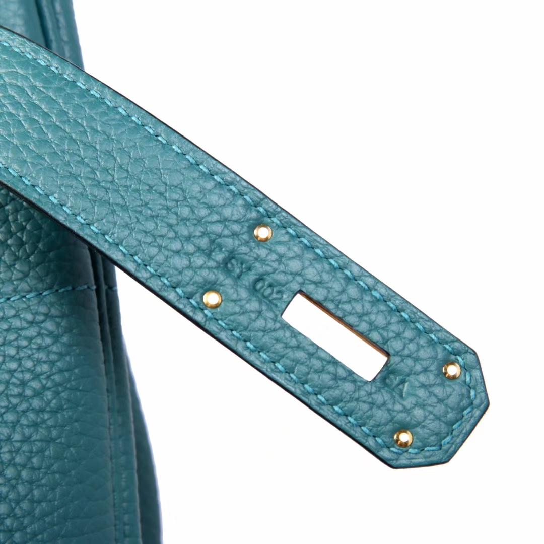 Hermès(爱马仕)HAC 孔雀绿 togo 手工 神级 金扣 40cm