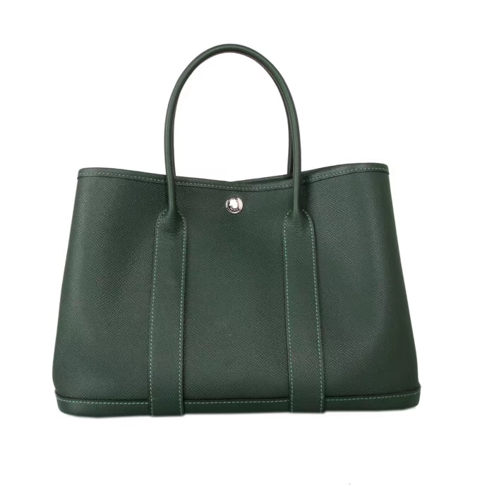 Hermès(爱马仕)花园包 英国绿 epsom皮 30CM