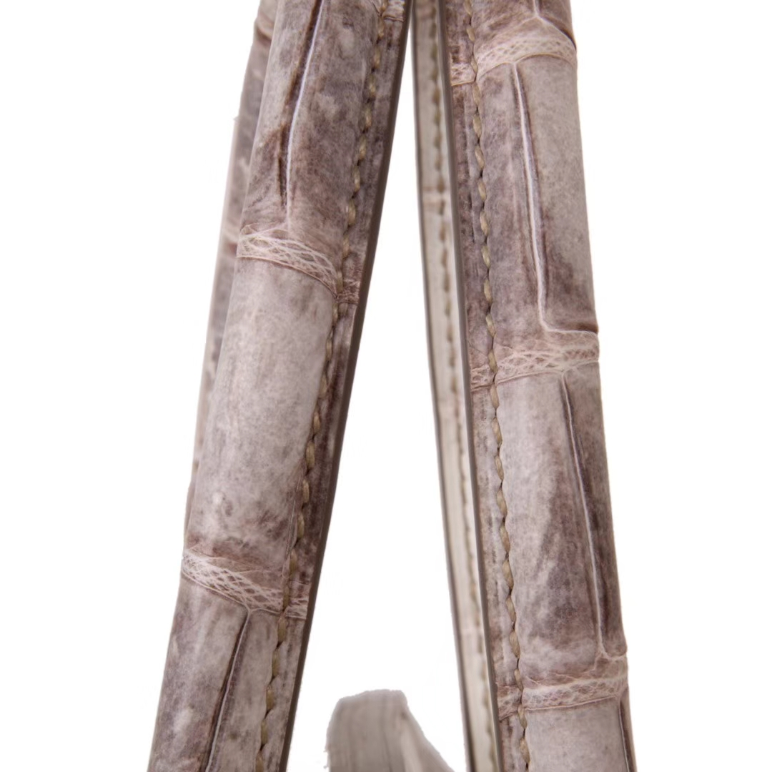 Hermès(爱马仕)Birki 喜马拉雅色 雾面鳄鱼 银扣 30cm