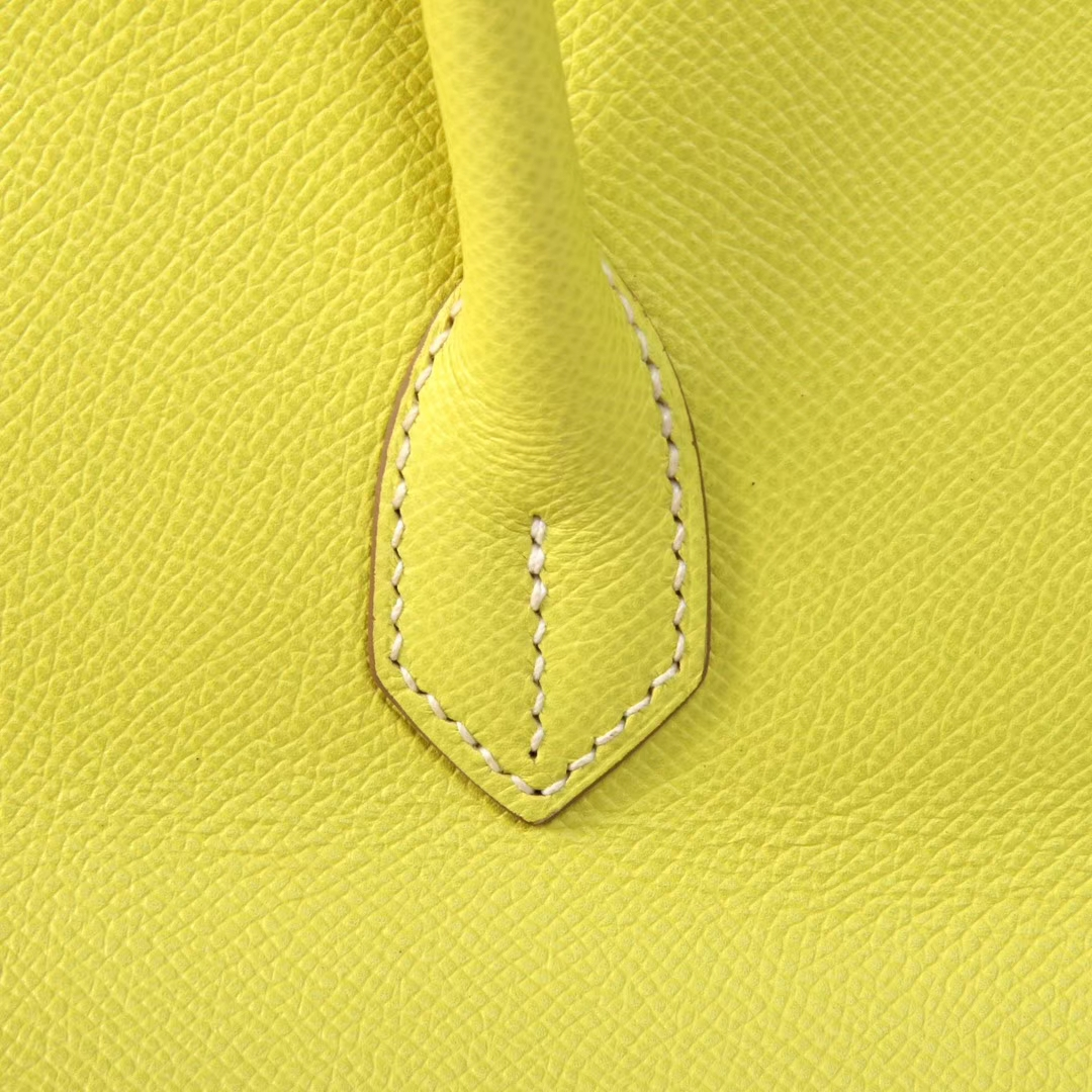 Hermès(爱马仕)Birkin 柠檬黄 原厂御用小牛皮 银扣 30cm