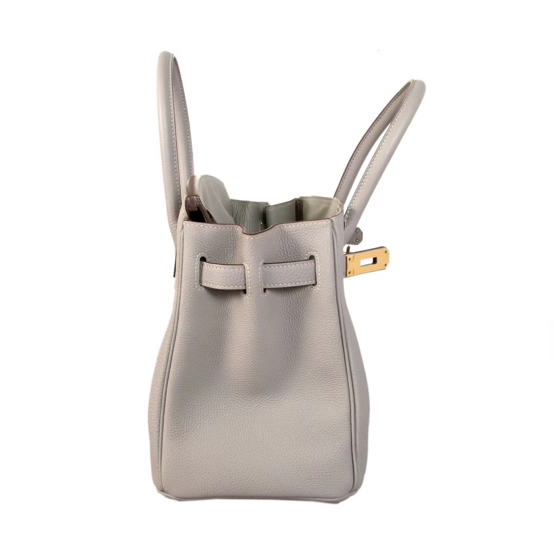 Hermès(爱马仕)birkin铂金包 冰川灰 原厂御用顶级小牛皮 金扣 30CM