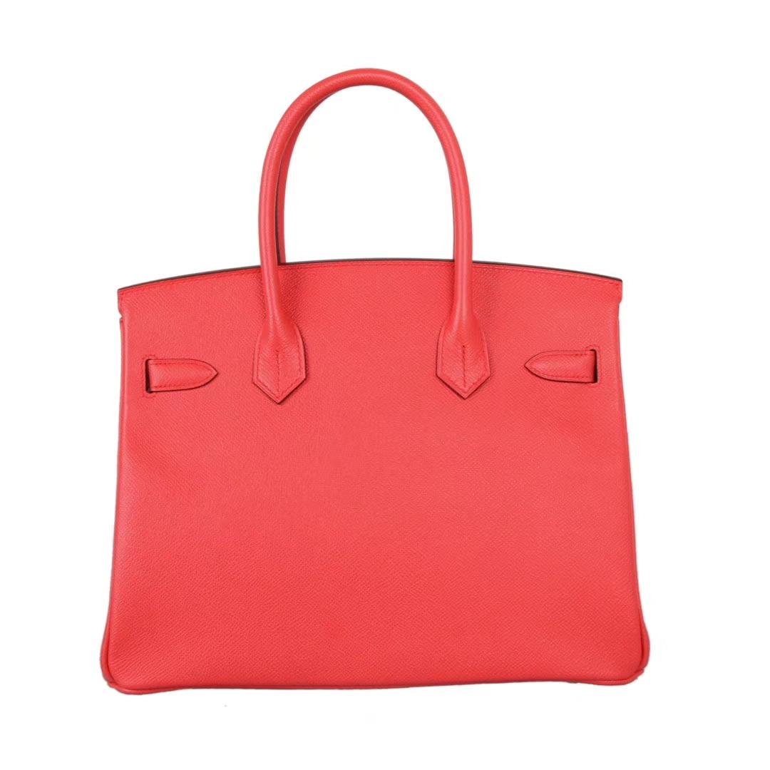 Hermès(爱马仕)birkin 番茄红 epsom皮 金扣 30cm