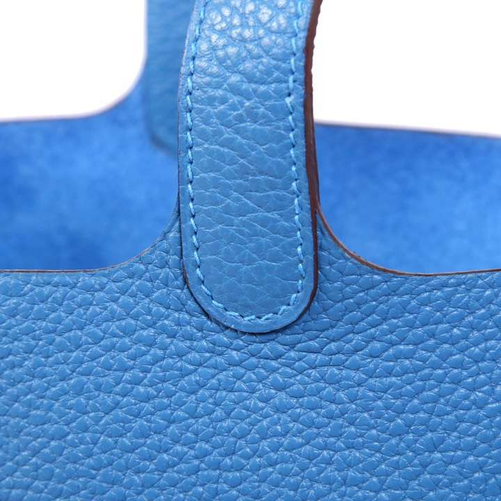 Hermès(爱马仕)CK18 蓝色 Picotin菜蓝子  Lock 22cm 银扣 现货