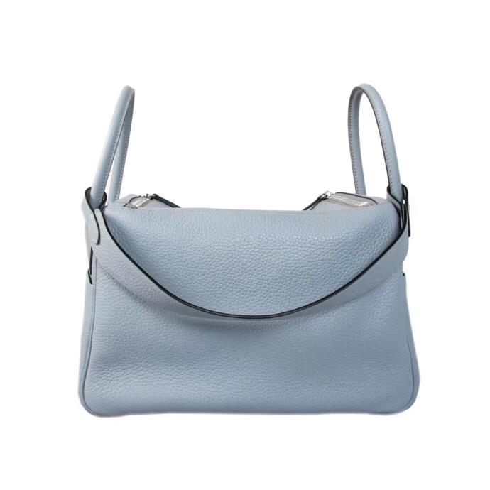 Hermès(爱马仕)Lindy J7亚麻蓝 TOGO 银扣 30cm