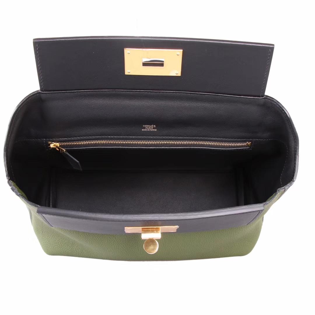 Hermès(爱马仕)Kelly2424 V6军绿 togo 金扣 29cm
