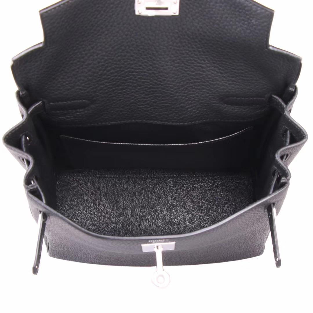 Hermès(爱马仕)kelly ado 双肩包 CK89 黑色 togo 22cm