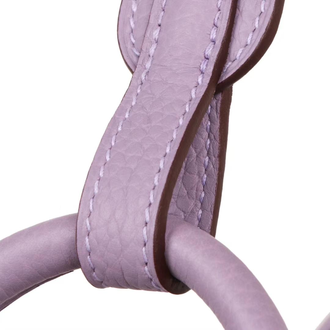 Hermès(爱马仕)Lindy琳迪包 香芋紫 银扣 Togo 30cm 现货