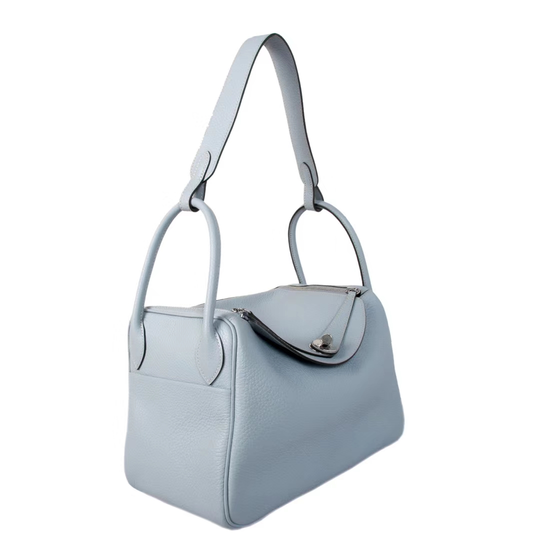 Hermès(爱马仕)Lindy琳迪包 亚麻蓝 银扣 Togo 30cm 现货