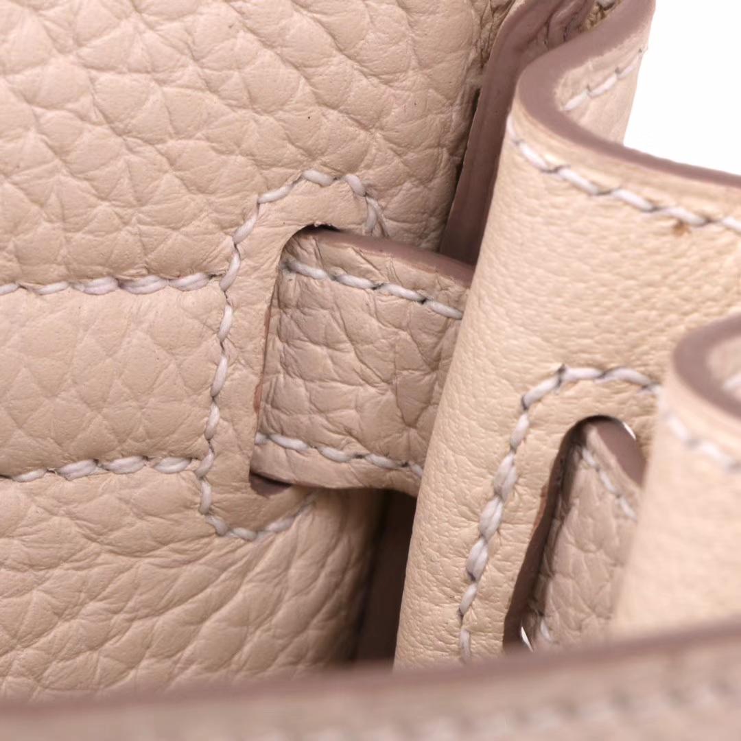 Hermès(爱马仕)kelly ado 双肩包 奶昔白 togo 22cm