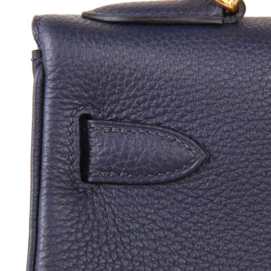 Hermès(爱马仕)kelly凯莉包 宝石蓝 Togo 金扣 28cm 现货