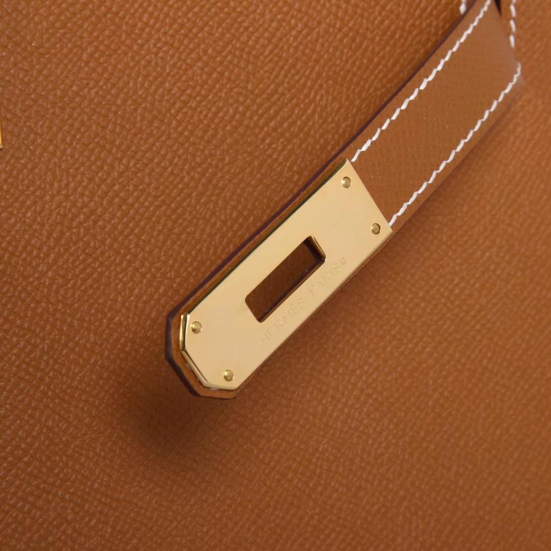 Hermès(爱马仕)kelly凯莉包  金棕色 Espom皮 金扣 28cm 现货