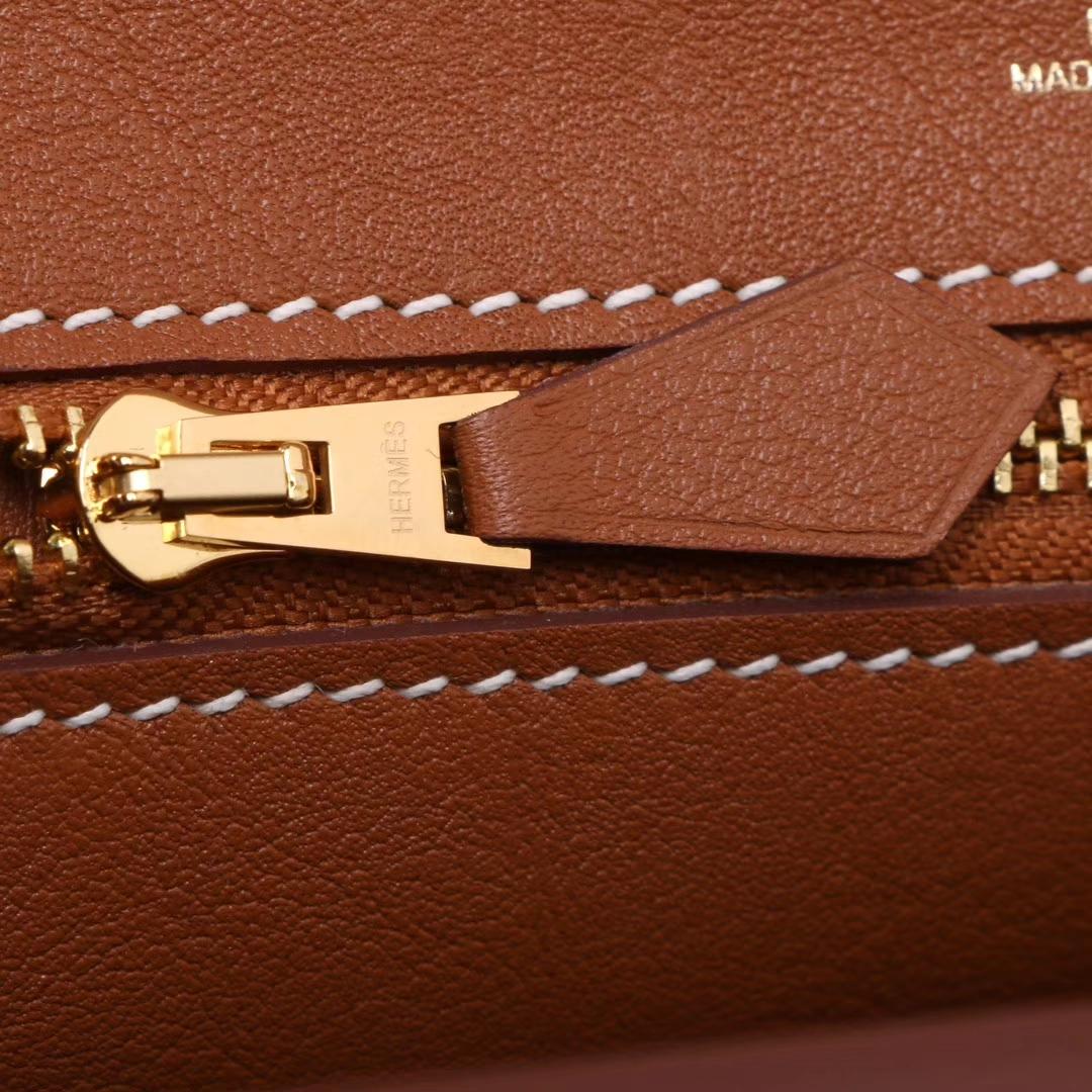 Hermès(爱马仕)Kelly2424 29金扣 金棕色  togo