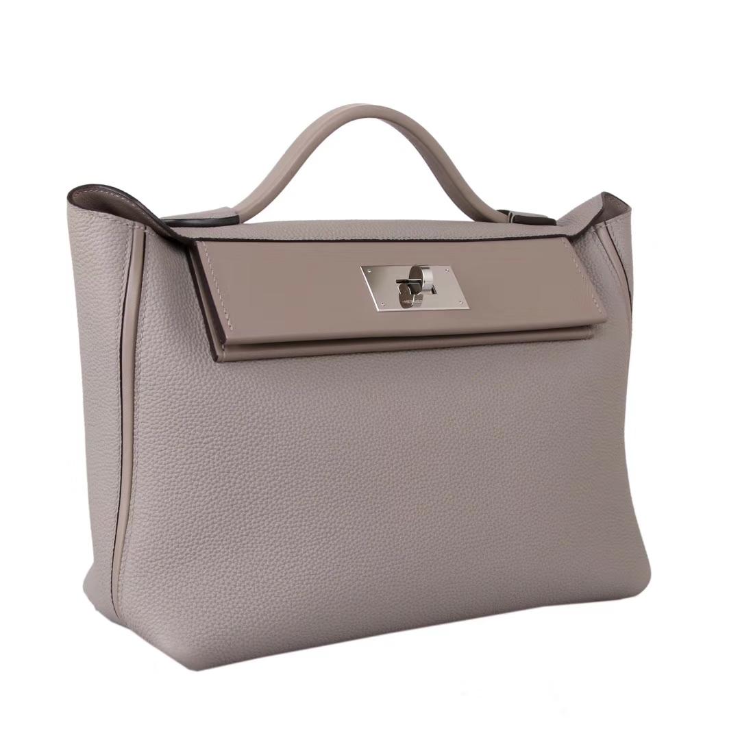 Hermès(爱马仕)Kelly2424 29银扣 斑鸠灰 togo