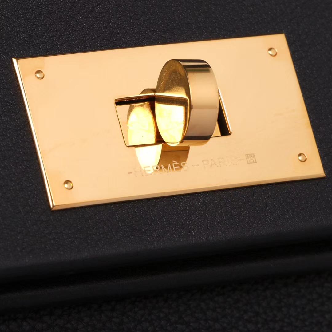 Hermès(爱马仕)Kelly2424 29金扣 黑色  togo