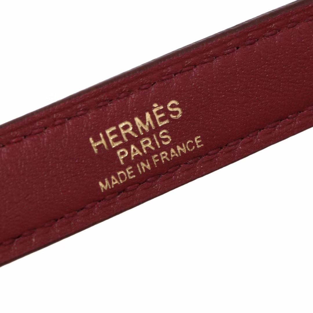 Hermès(爱马仕)Kelly2424 29金扣 酒红色  togo