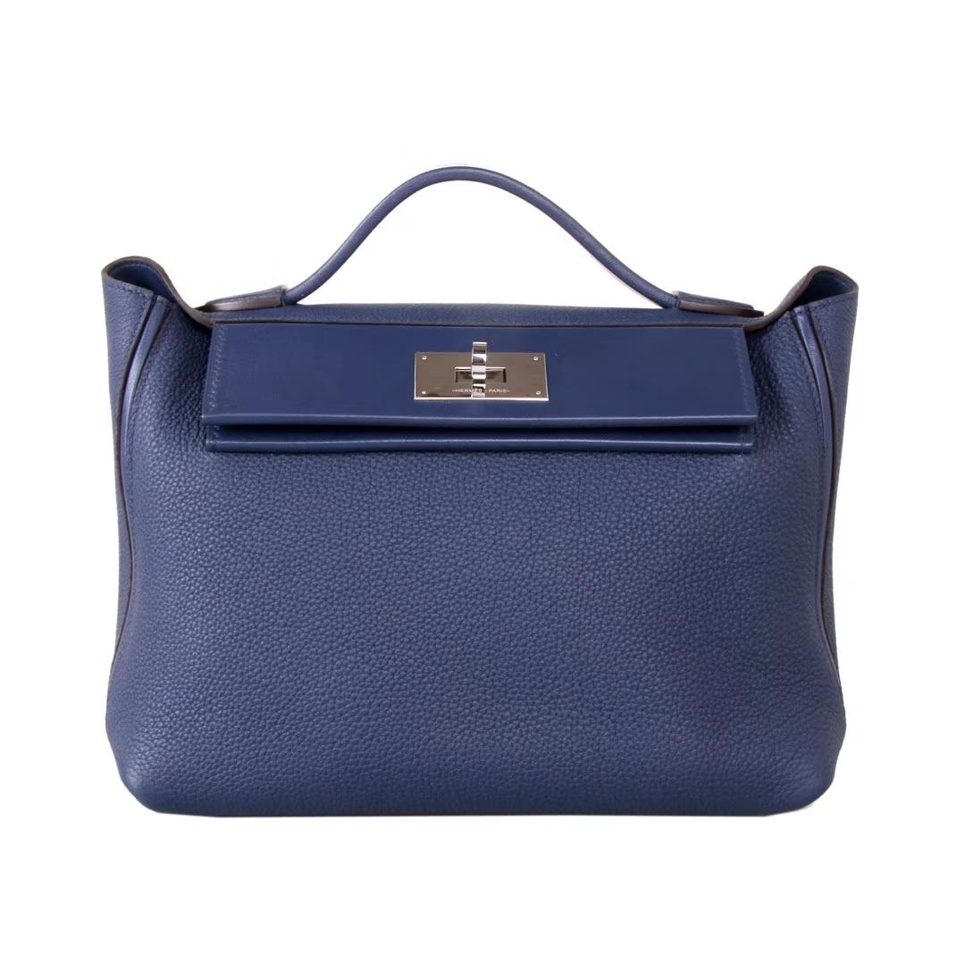 Hermès(爱马仕)Kelly2424 29银扣 宝石蓝  togo