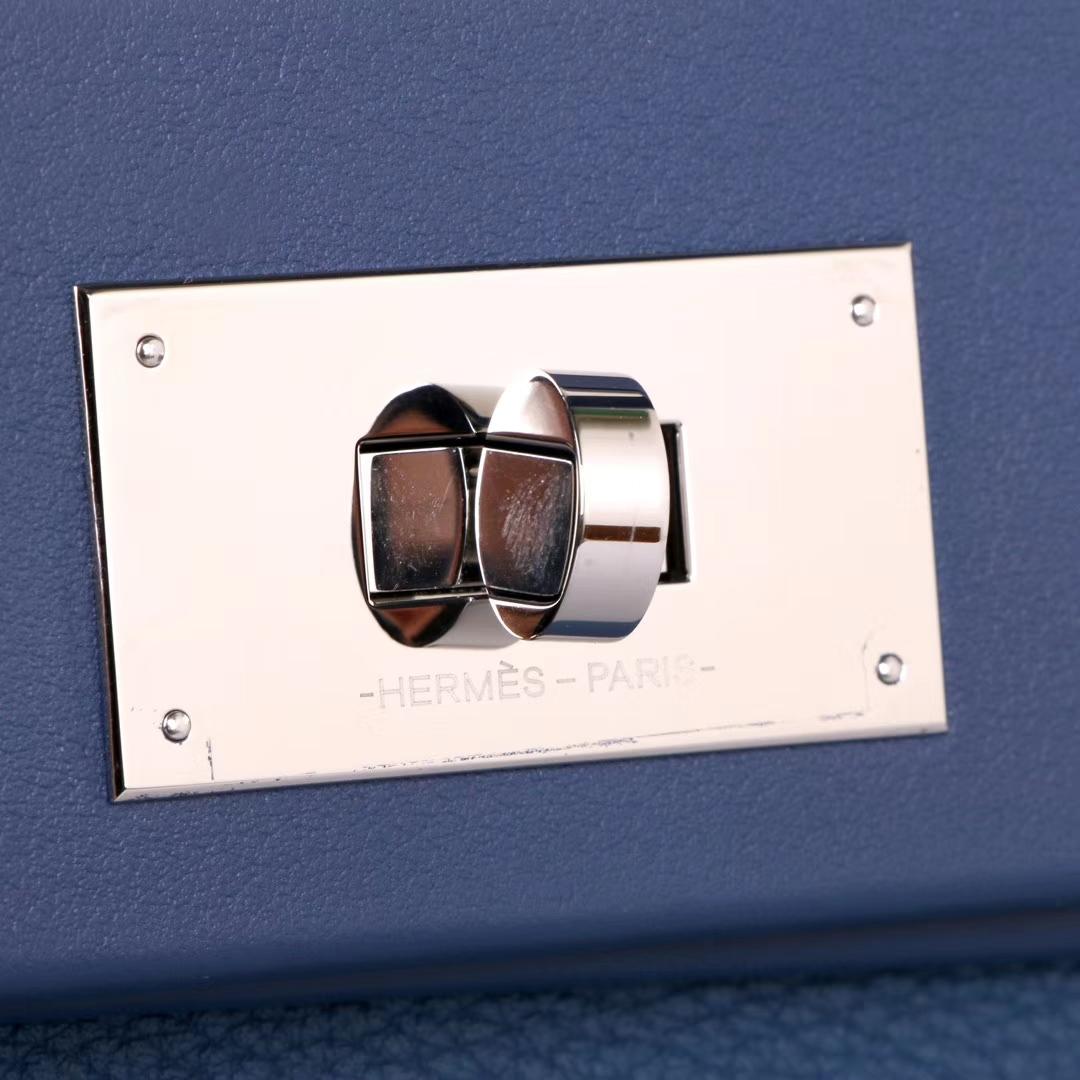 Hermès(爱马仕)Kelly2424 29银扣 玛瑙蓝  togo